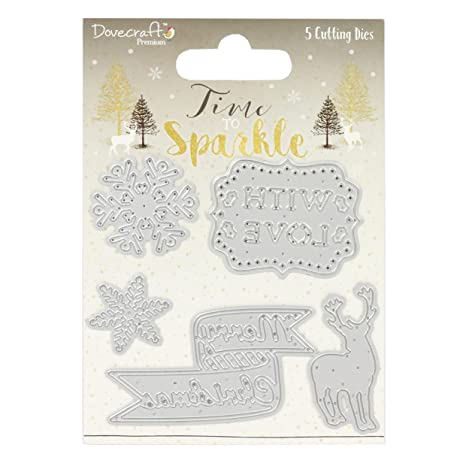 Glitter Buttons Dovecraft Premium Time to Sparkle Christmas Collection