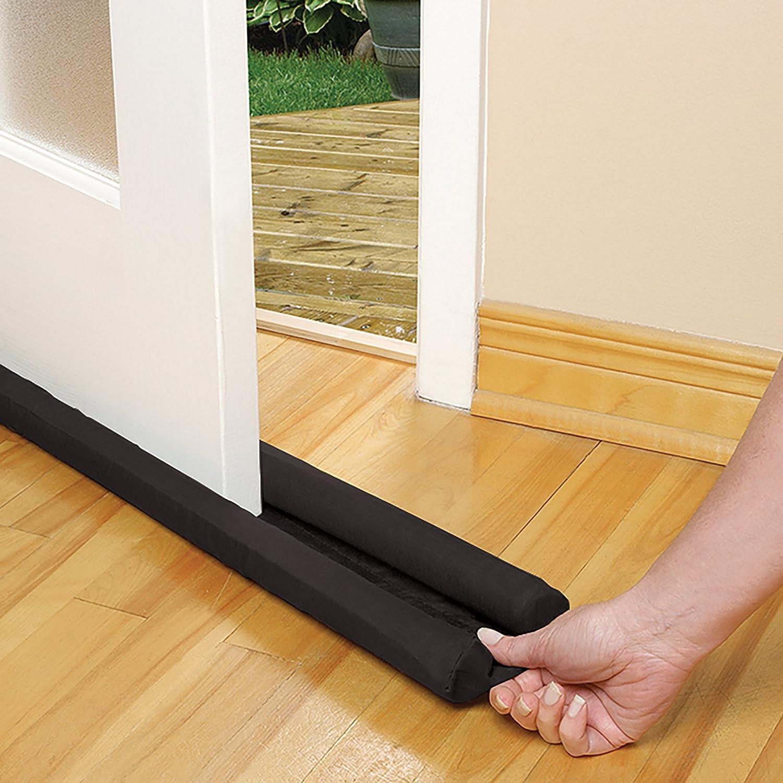 Energy Saving Under Door Draft Stop Twin Draft Guard Extreme in Black