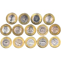 RAJACOINS~Ten RU. All Different Fourteen (14) Commemorative Collectible
