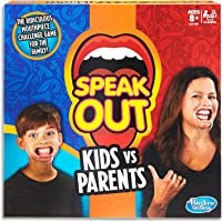 Speak Out - Kids vs Parents - The ridiculous mouthpiece challenge game - 4 to 10 Players - Kids Toys - Ages 8+
