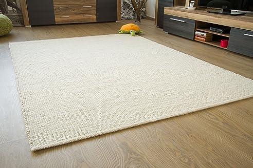 Attractive Murnau Handweb Teppich   Aus Nachhaltiger, Deutscher Produktion   Gewalkt    Weiß, Größe: Amazing Ideas