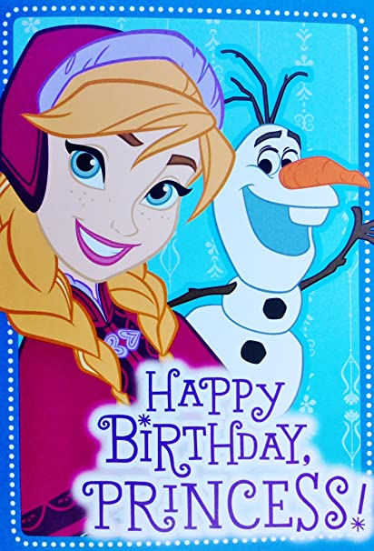 Amazon disney frozen birthday greeting card with 2 snowflakes disney frozen birthday greeting card with 2 snowflakes gift wrap sheets large matching m4hsunfo
