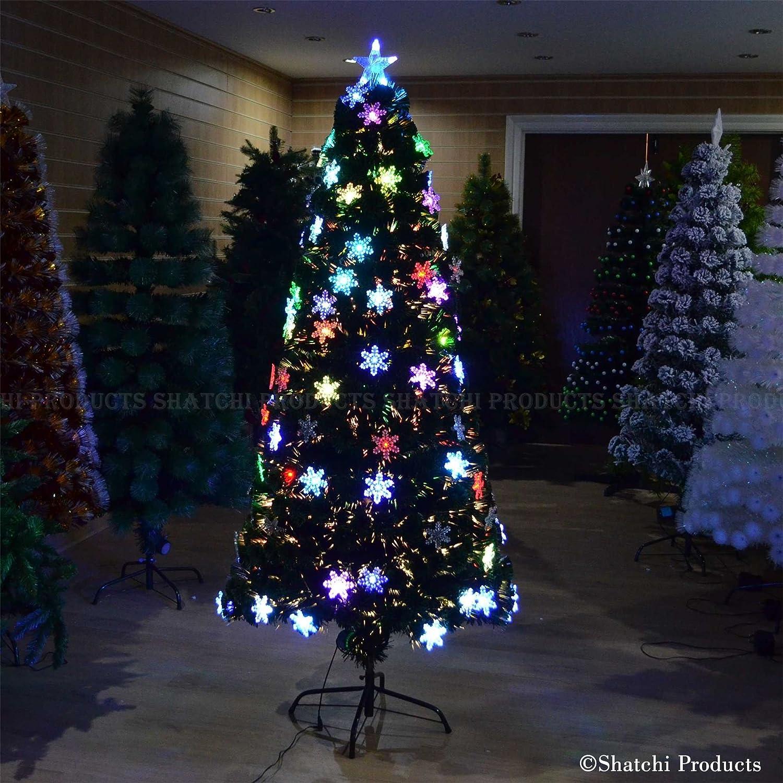 4ft Snowflake LED Fibre Optic Christmas Tree Xmas Decoration Pre-Lit Tree Shatchi Products