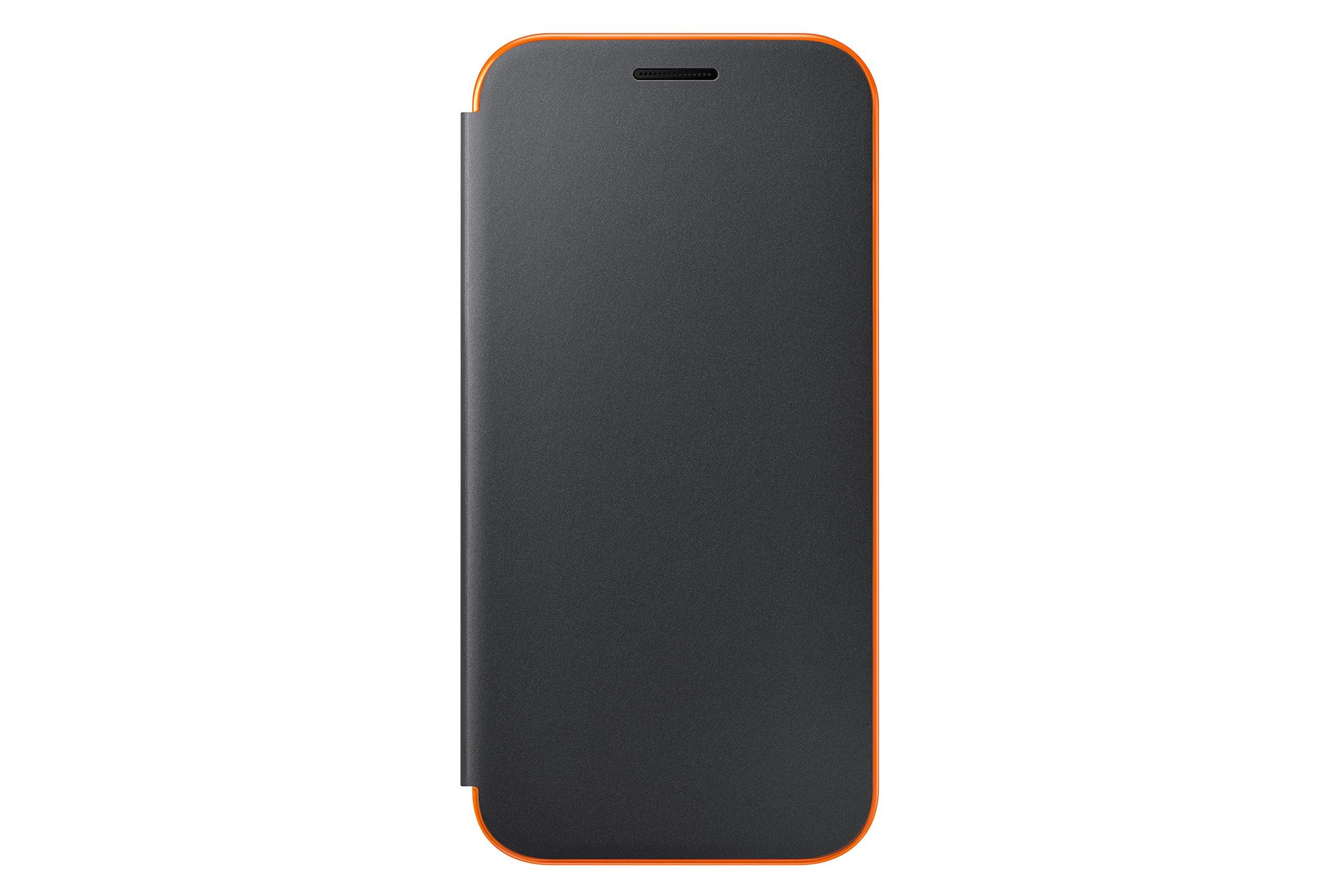 Original Official Samsung Galaxy A3 (2017) Neon Flip Cover Case - Black (EF-FA320PBEGWW)