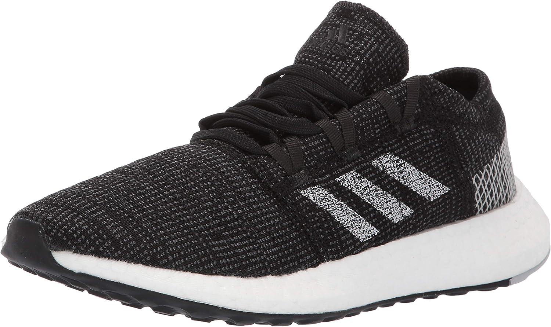 adidas Women's Pureboost Go Running Shoe Black Grey Grey