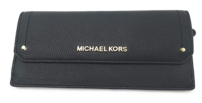 83d551cd1d2f Image Unavailable. Image not available for. Color: MICHAEL KORS HAYES  Pebbled Leather Flat Wallet
