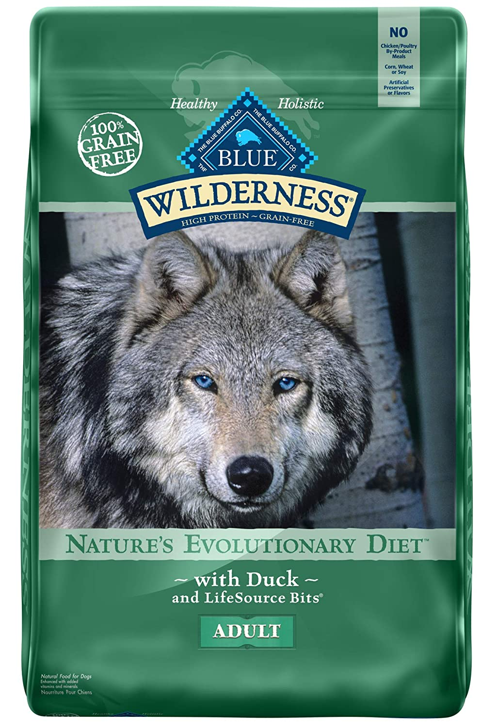 3.Blue Buffalo Wilderness High Protein Grain Free, Natural Adult Dog Food