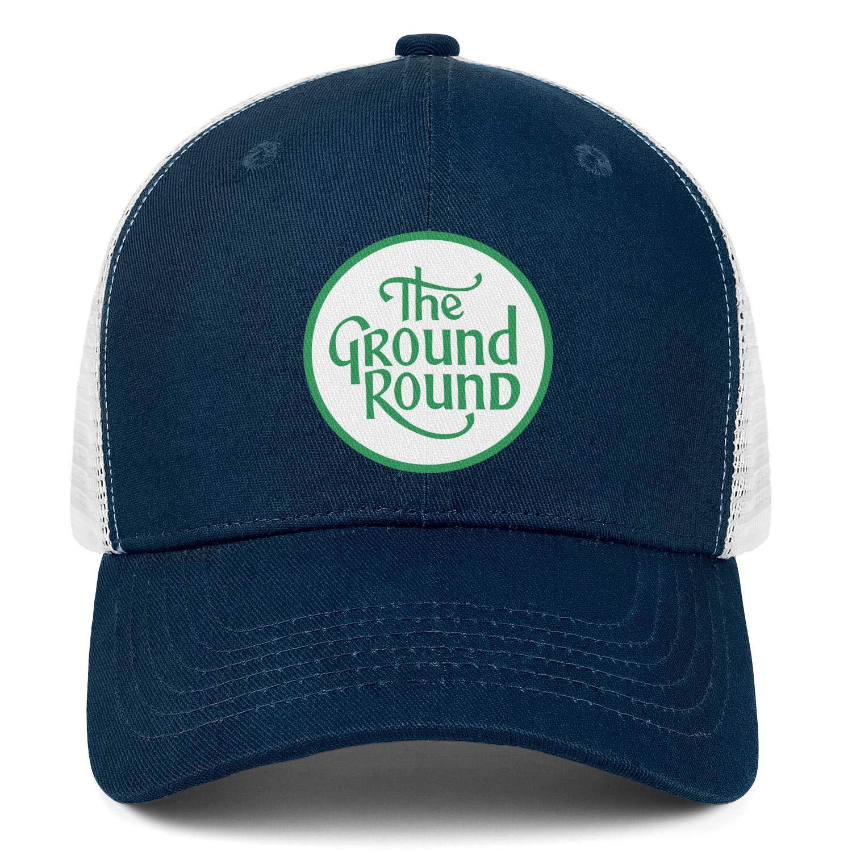 Wudo Unisex Ground Round Logo Hat Pretty Trucker Hat Baseball Cap Adjustable Cowboy Hat