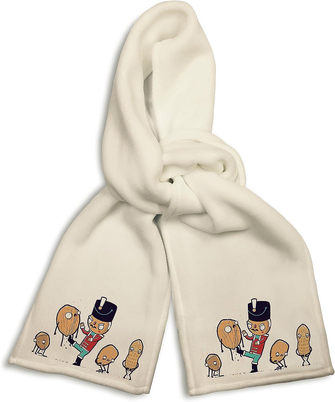 White Winter Scarf Nut Cracker Funny Doll Kicking Walnuts /& Peanuts