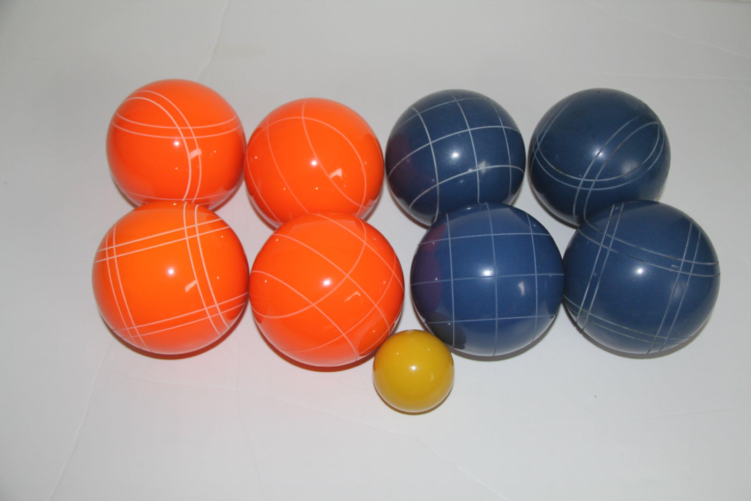 Premium Quality EPCO Tournament Set - 110mm Blue and Orange Bocce Balls - NO BAG OPTION [Toy] by Epco