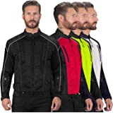 Viking Cycle Textile Warlock Mesh Motorcycle Jacket for Men – Removable Armor, Summer Riding Gear – Reflective, Breathable, and Water Repellent