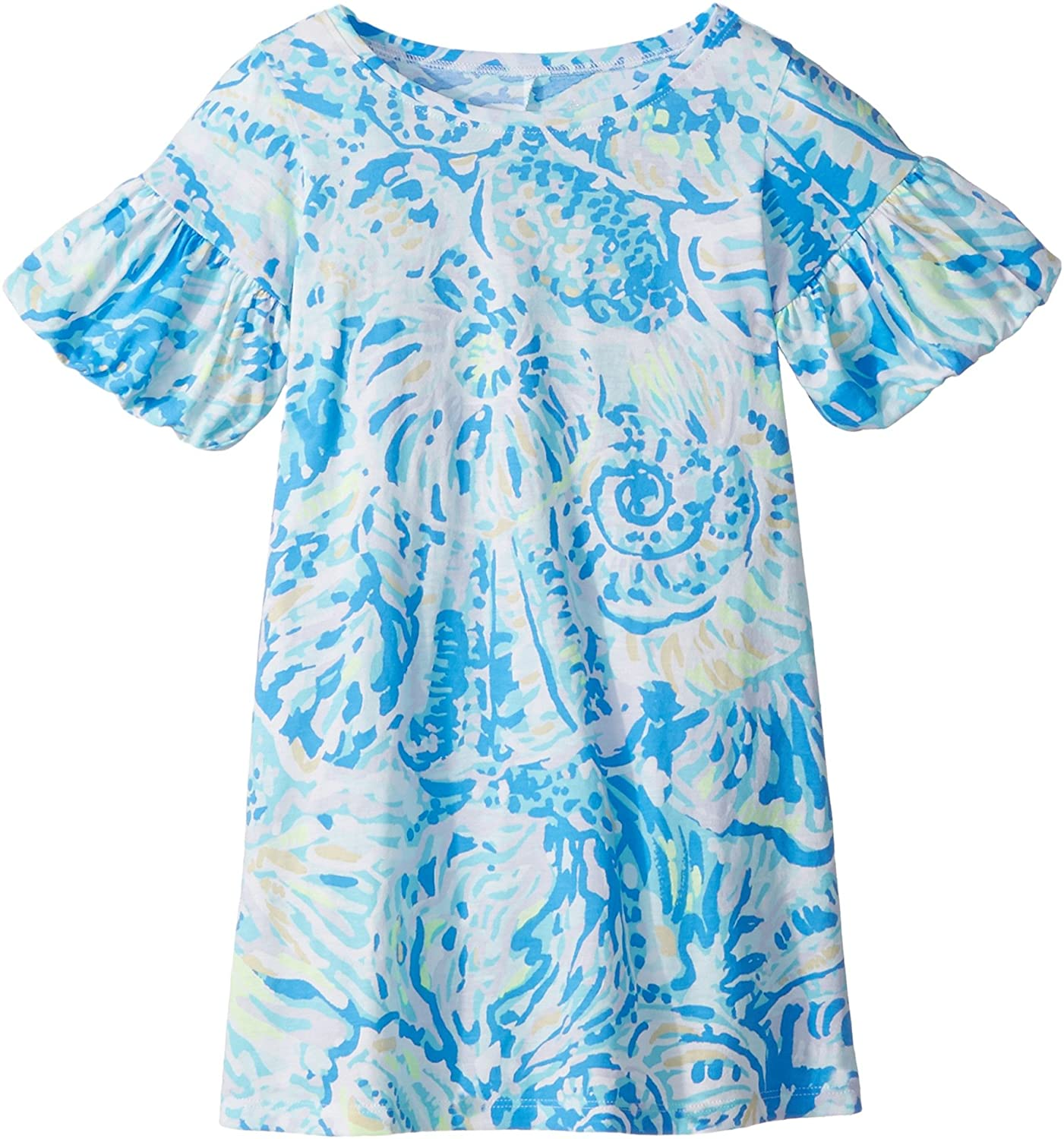 cc37cde2cb2af4 Amazon.com: Lilly Pulitzer Kids Baby Girl's Mini Lindell Dress  (Toddler/Little Kids/Big Kids) Bennet Blue Salty Seas Small: Clothing