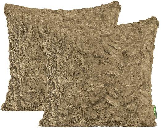 Funda de cojín de peluche de alrededor de 70 x 70 cm con ...