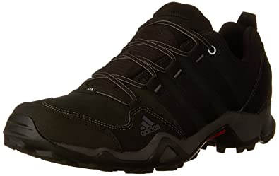 adidas Outdoor Men's Brushwood Leather Hiking Shoe, Black/Black/Granite, ...