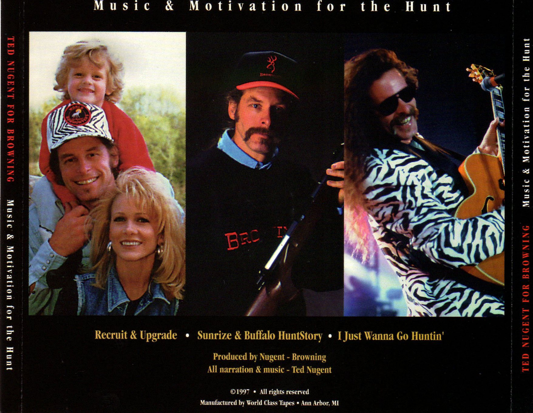 Image result for ted nugent browning music for the hunt