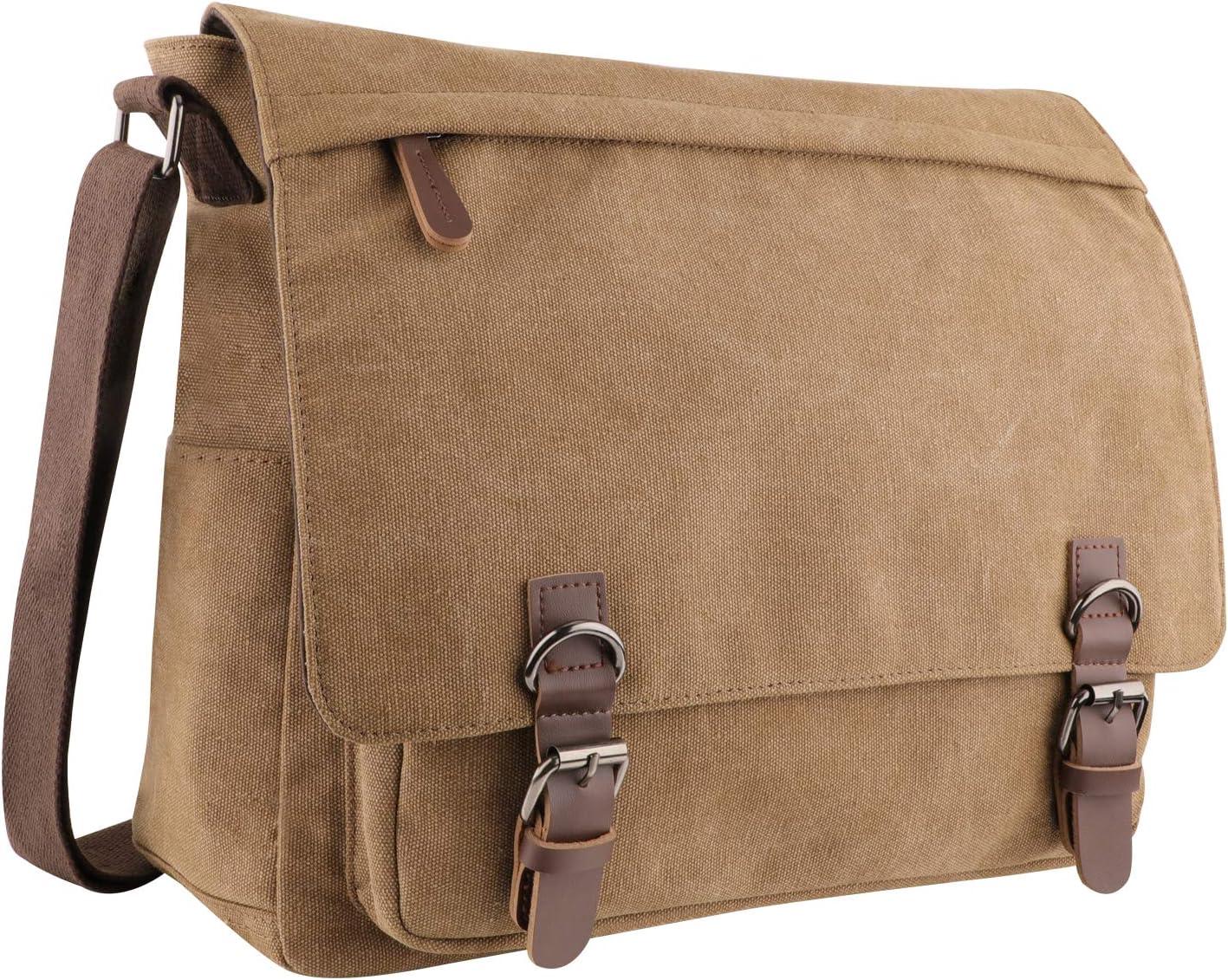 Men/'s Military Canvas Satchel Holdall School Shoulder Messenger Bag