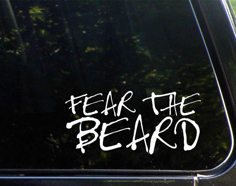 "Fear The Beard (8"" x 3-3/4"""") Die Cut Decal Sticker for Windows, Cars, Trucks, Laptops, Etc."