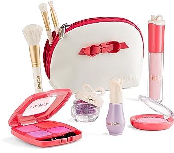 Litti Pritti Set De Maquillaje Pretende Para Niñas - 9 Piezas Juego De Cosmética Maquillaje Kit - Pu Estuche De Cuero