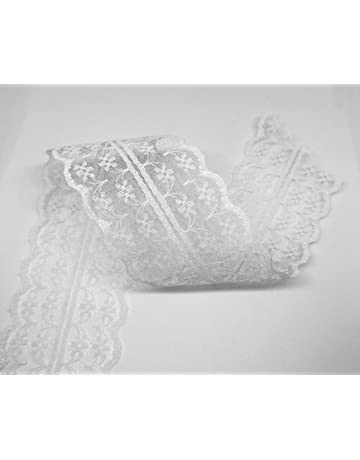 fd30727190 Sparkles Gems  Vintage Style Lace Ribbon Trimming Bridal Wedding Scalloped  Edge 47mm  UK Seller
