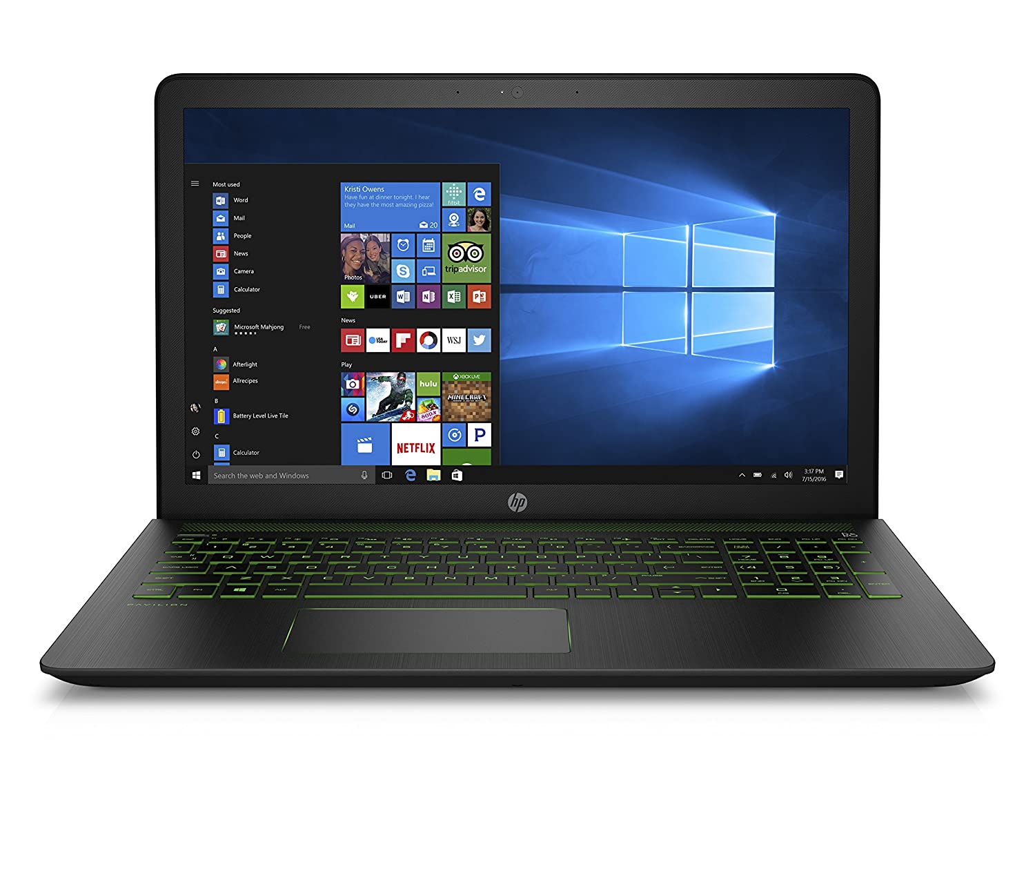 Portátiles gaming HP Pavilion Power 15-CB032NS