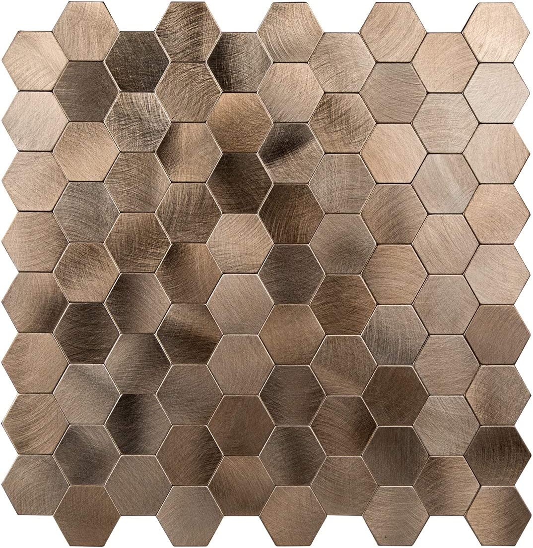 - Amazon.com: Decopus Peel And Stick Tile Backsplash Metal Mosaic