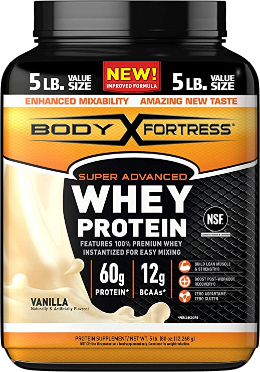 Amazon.com: Body Fortress Super Advanced Whey Protein Powder ...