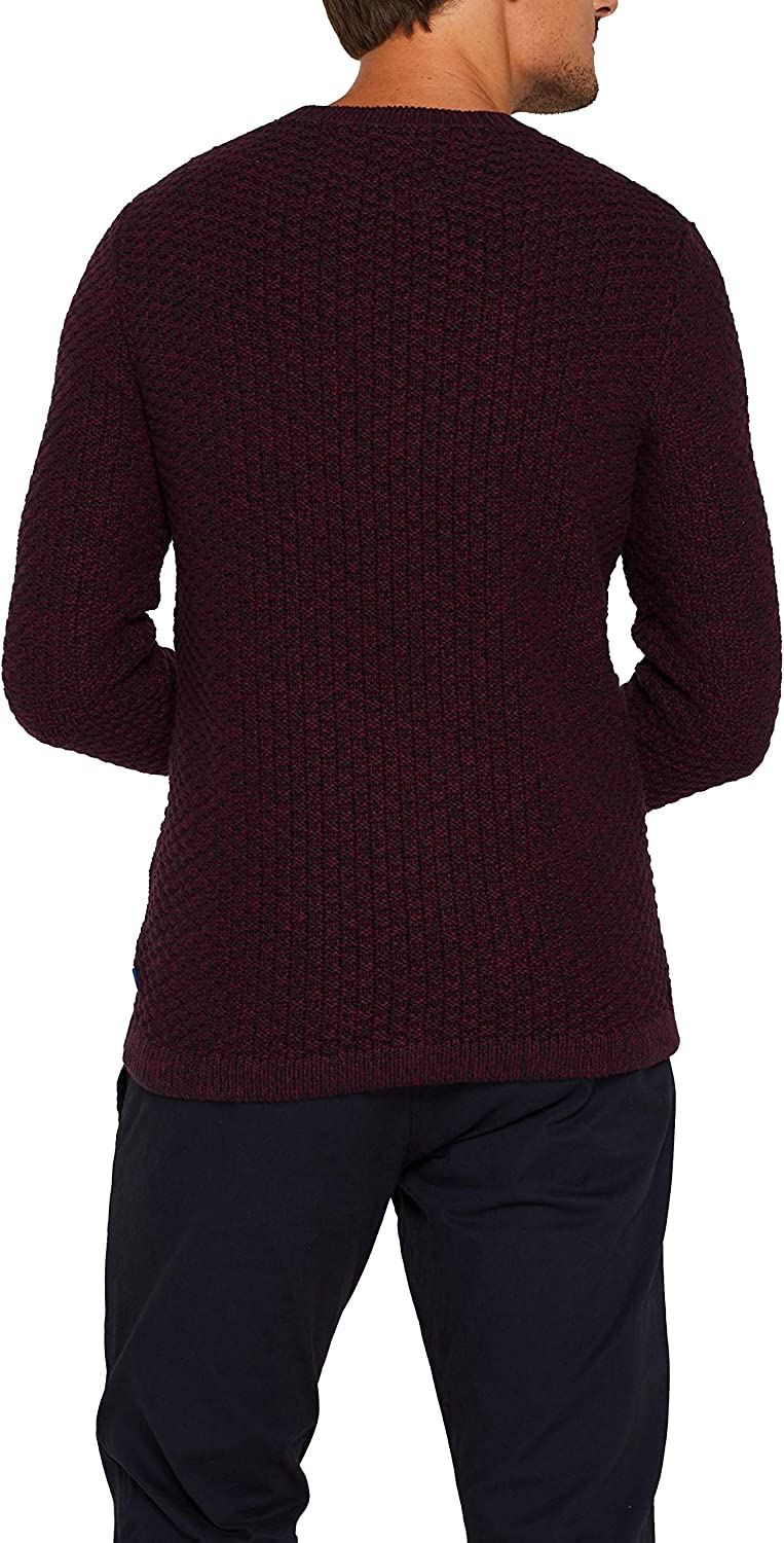 edc by ESPRIT Herren Pullover Rot (Berry Red 625)
