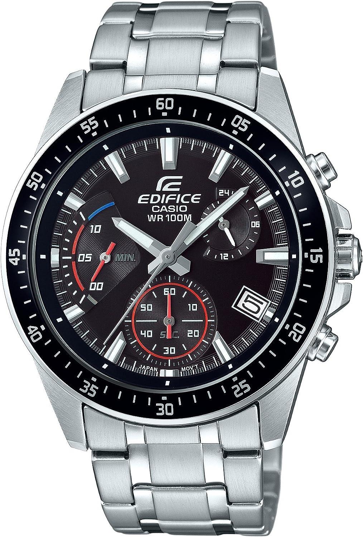 Casio Men s Edifice Quartz Watch with Stainless-Steel Strap, Silver, 20.47 Model EFV-540D-1AVUDF