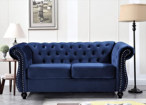 US Pride Furniture AS5678-L Reddington Traditional Style Velvet Rolled Arm Loveseat