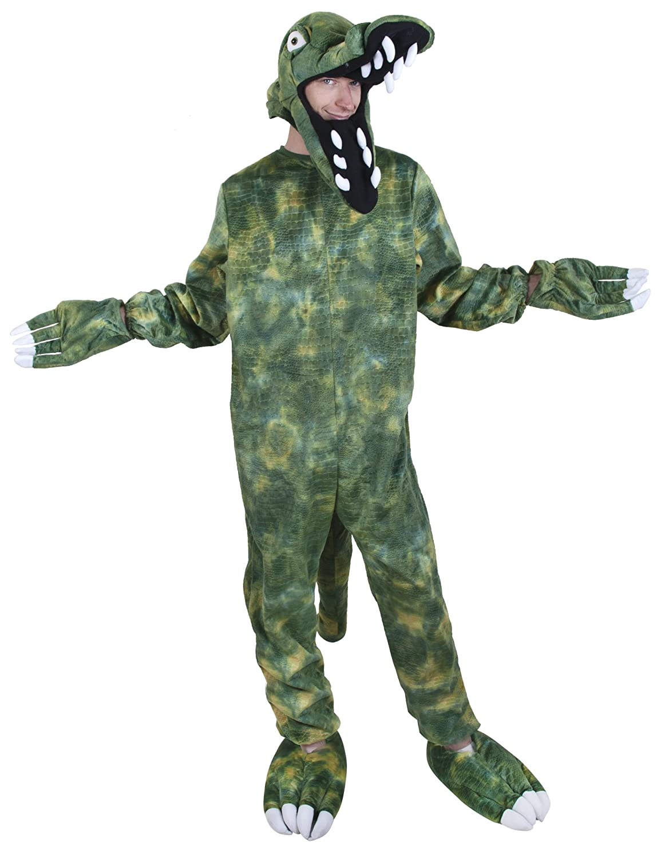 sc 1 st  Amazon.com & Amazon.com: Adult Crocodile Costume Size Adult Standard: Clothing