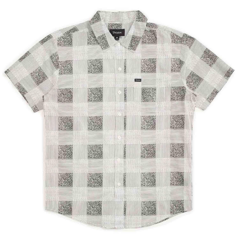 BRIXTON Mens Charter Standard Fit Short Sleeve Print Woven Shirt