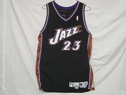 9b8d239f1 1999-2000 Utah Jazz  23 Pete Chilcutt Game Worn Jersey at Amazon s ...