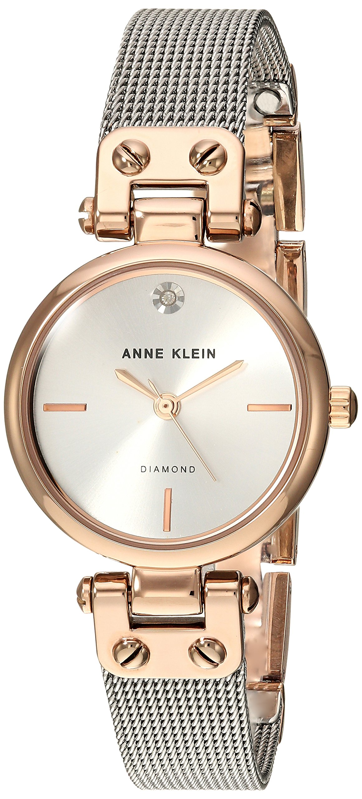 Anne Klein Women's Quartz Metal and Stainless Steel Dress Watch, Color:Silver-Toned by Anne Klein