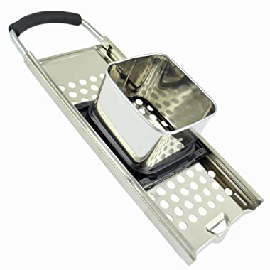 Zoie + Chloe Premium 18/10 Grade Stainless Steel Spaetzle Maker with Comfort Grip Handle
