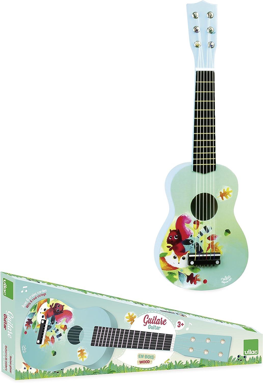 Vilac 8349 – Guitarra de Madera Dibujos sobre el Tema del Bosque ...