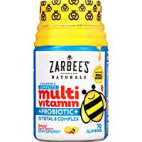 Zarbee's Naturals Children's Complete Multivitamin + Probiotic Gummies, Natural...