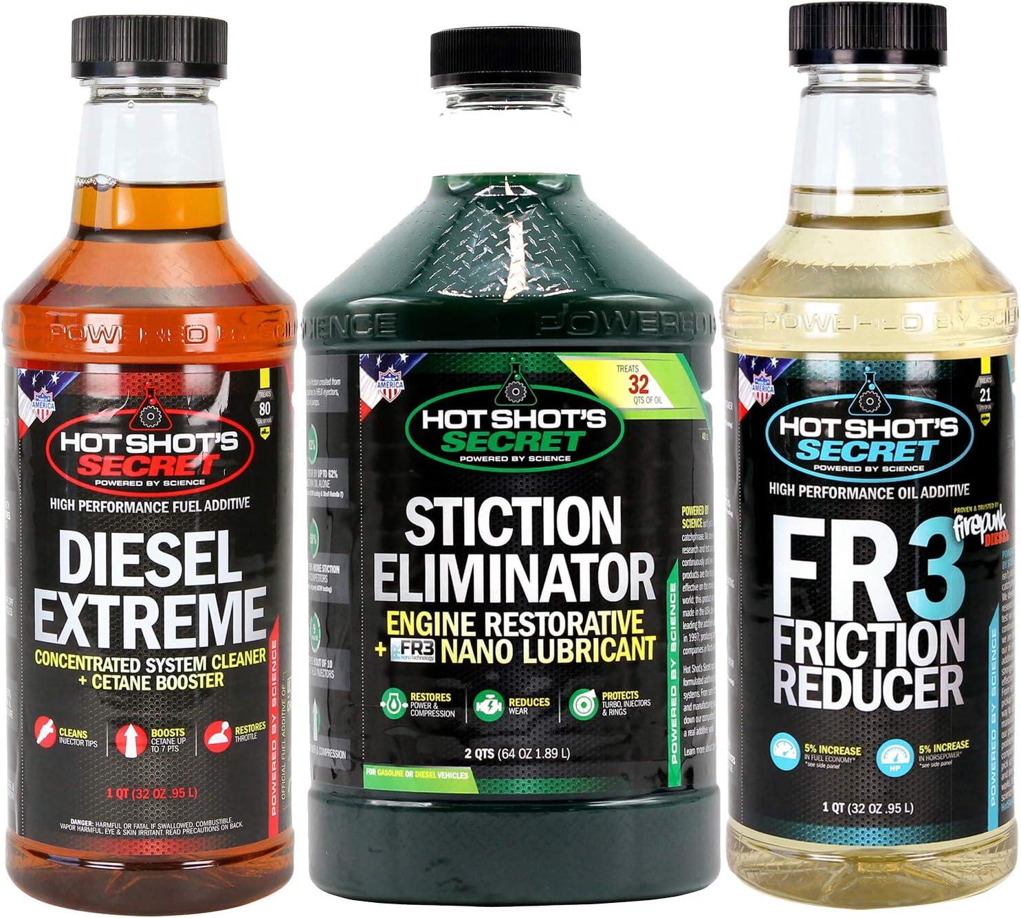 Amazon Com Hot Shot S Secret Trio Diesel Oil And Fuel Additive 128 Fl Oz Automotive