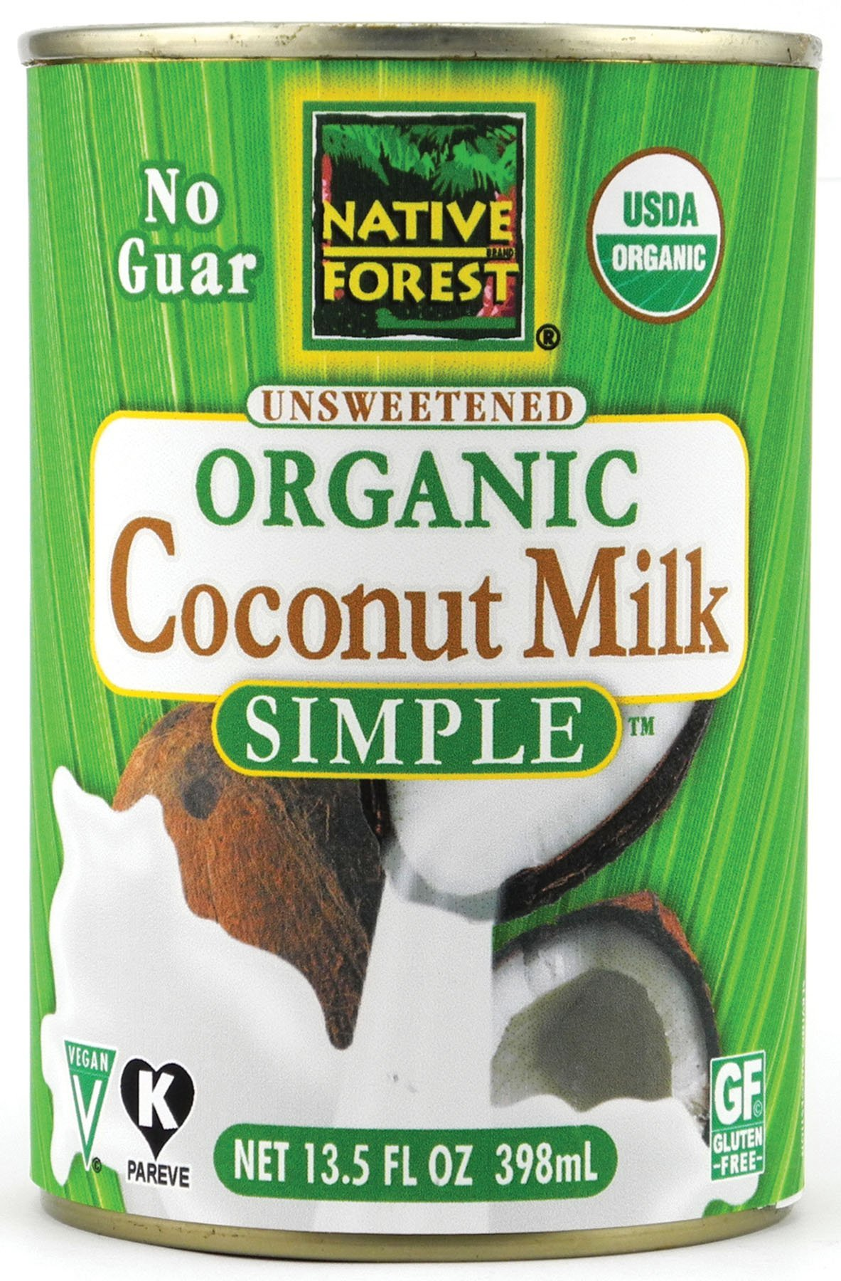 Native Forest Simple Organic Unsweetened Coconut Milk, 13.5 Fluid Ounce (Pack of 6)