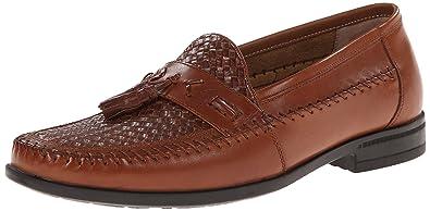 Nunn Bush Men's Strafford Woven Slip-On Loafer, Cognac, ...