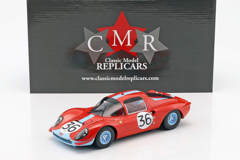 CMR Ferrari Dino 206S  36 24h Lemans 1966 Salmon, Hobbs 1:18