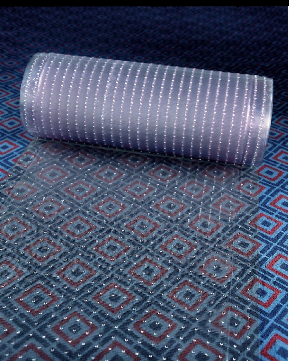 Clear Plastic Runner Rug Carpet Protector Mat Ribbed Multi-Grip (Clear Plastic, 18' in x 26' in) 18 in x 26 in) Made in China