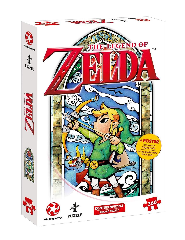 Puzzle su Ins, Avventura con The Legend Of Zelda–The Wind Waker Hero S Bow (360pezzi, con poster del Disegno in grandezza originale) Winning Moves 11408 Spiele für Drinnen