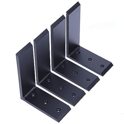 """4 Heavy Duty Black Steel 6""""x8"""" Countertop Support Brackets Corbel Lot L  Shelf"""