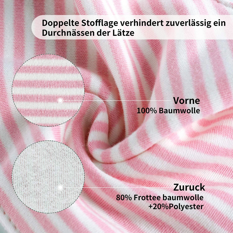 6pcs Baby Dreieckstuch L/ätzchen M/ädchen Spucktuch Baumwolle Halst/ücher mit s/ü/ßen Motiven in unterschiedlichen Farben Doppellagig Saugf/ähig