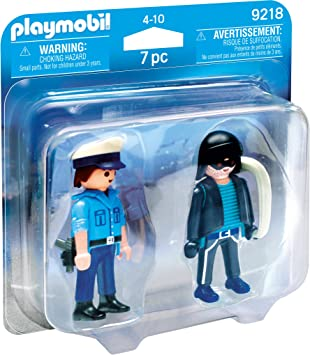 PLAYMOBIL Duo Pack-9218 Policía y Ladrón, Multicolor, única (9218 ...