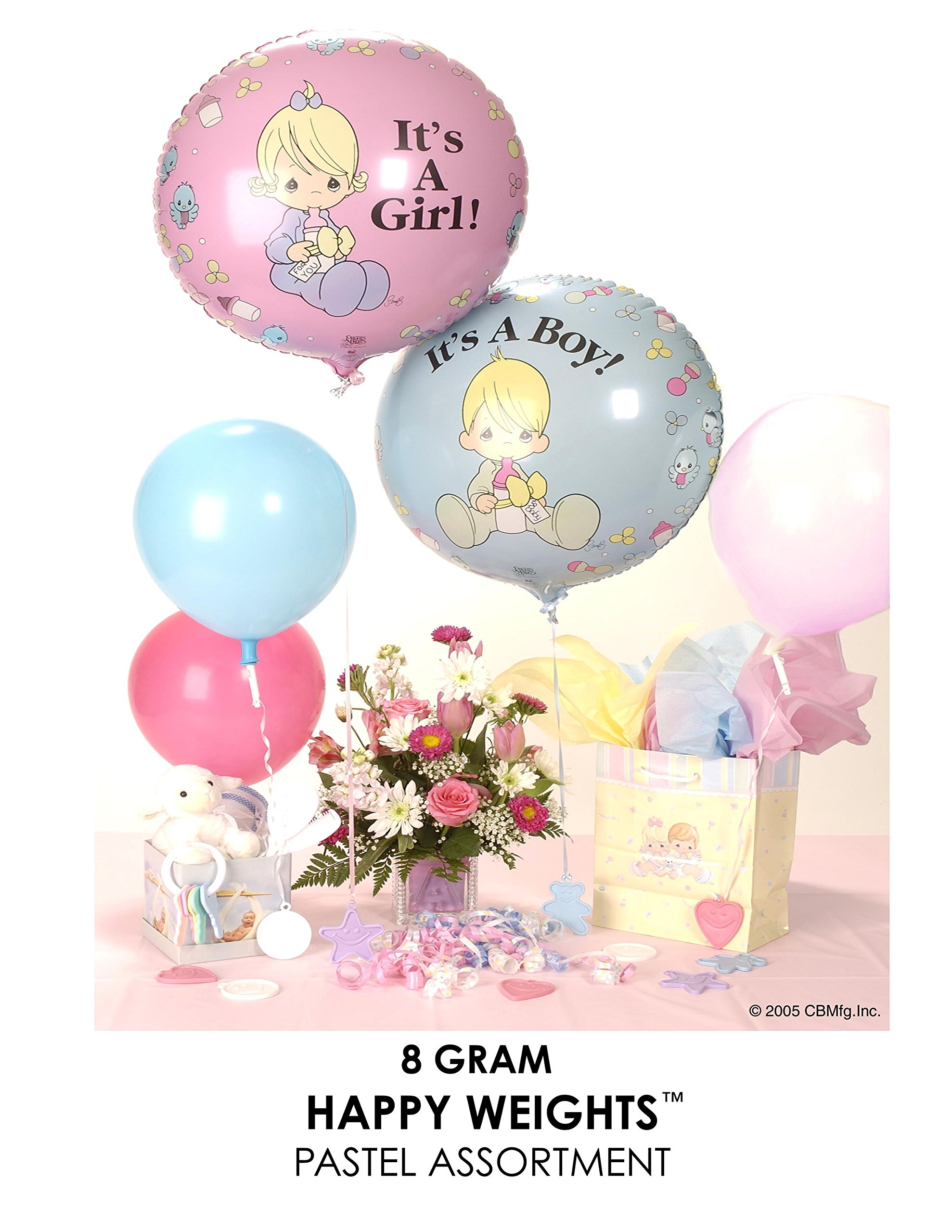 Happy Weight 8 g Balloon Weights Pastel Assortment 100 ct.