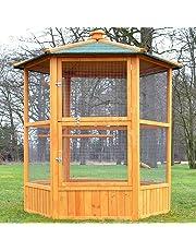 Zooprinz Volière Cage à Oiseaux en Bois de Haute qualité 6 Coins 160x123cm –Modèle ''Maxi 308 XXL''