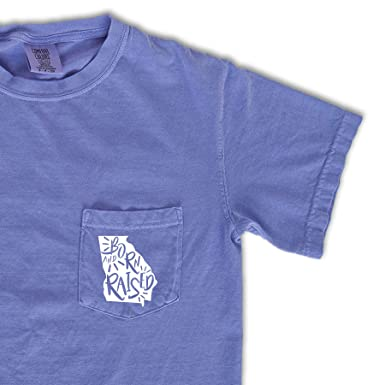 f1b2d483 Comfort Colors Georgia Born & Raised Pocket Tee | Home State Shirt ...