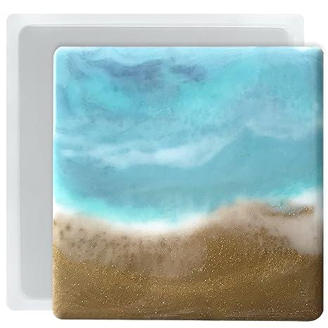 musykrafties Posavasos de resina epoxi moldes de silicona