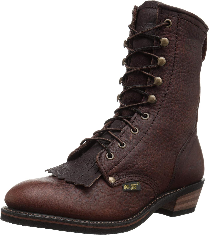 AdTec Men's Premium Leather, Oil Resistant Cowboy Boot Packer